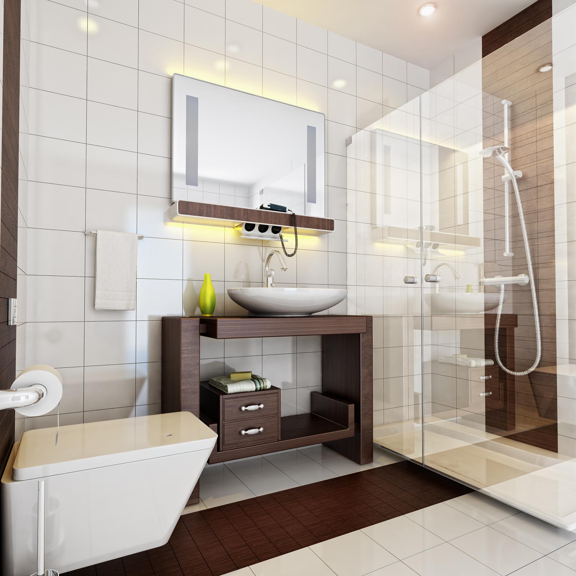 Vray İç Mekan Banyo Render